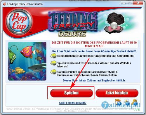cach choi feeding frenzy game ca lon nuot ca be 2