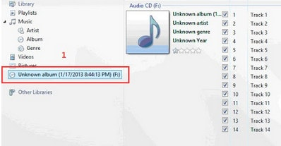 how to add music to windows media player from cd
