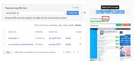 rut gon link google goo.gl