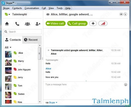 Skype - Remove a member from the group, conversation