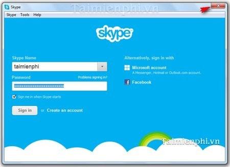 xoa tai khoan skype tu man hinh dang nhap