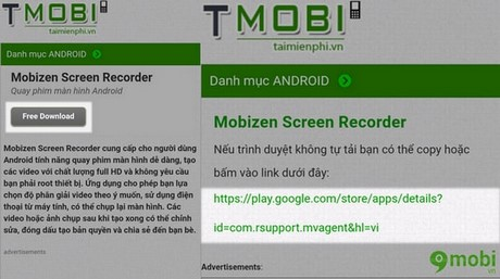 su dung mobizen screen recorder
