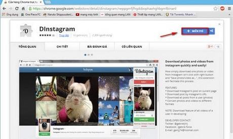 Tai du lieu tu Instagram ve may tinh