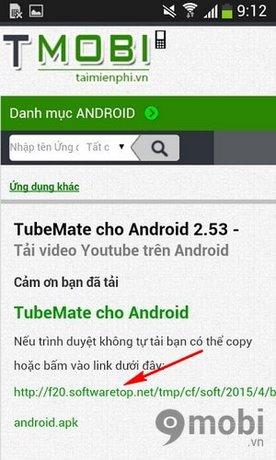 download Tubemate cho Samsung S6
