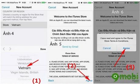 dang ky Apple ID trên iPhone 6 Plus