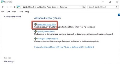 how to make a recovery usb windows 10