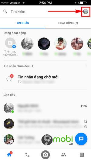 tat luu anh Facebook messenger