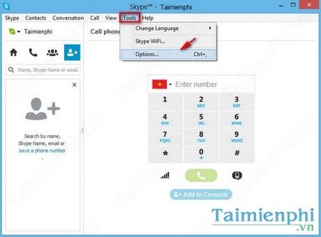 Change default font of Skype
