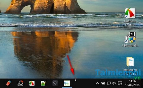 thu nho thanh taskbar tren windows 10