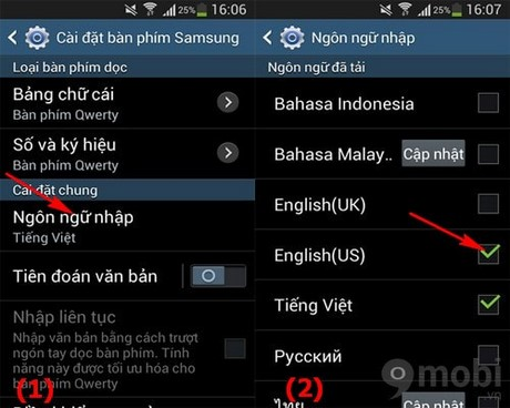 how to change s5 language from vietnamese to english