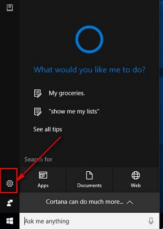 tim kiem an toan tren cortana windows 10