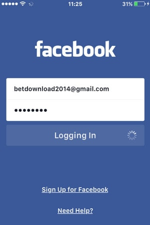 how to close facebook account on iphone