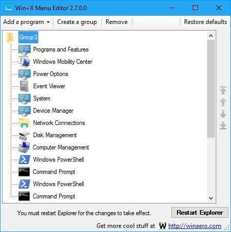 toi uu hoa power user menu windows 10 2