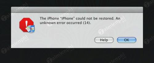 Tổng hợp mã lỗi iPhone 6, 6 Plus khi Restore