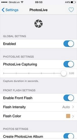 cai photoslive cho iphone