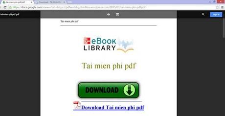 Đọc file PDF trên Chrome, Firefox, IE bằng Docs.google.com