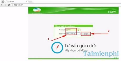Đổi mật khẩu wifi ZTE, thay pass wifi viettel ZTE F600W