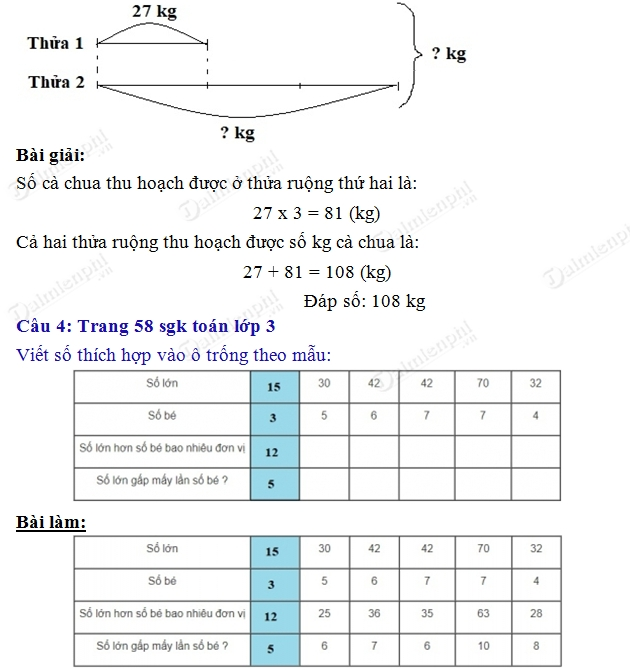 giai toan 3 trang 58 sgk luyen tap 2
