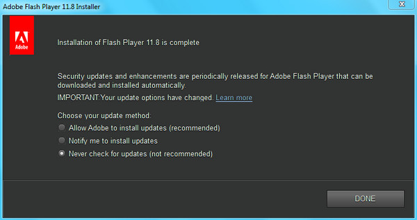 Adobe Flash Player - Kho hình ảnh. < >