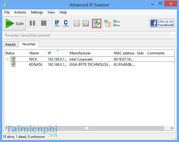Download Advanced IP Scanner - Tìm kiếm địa chỉ IP máy tính -taimienph