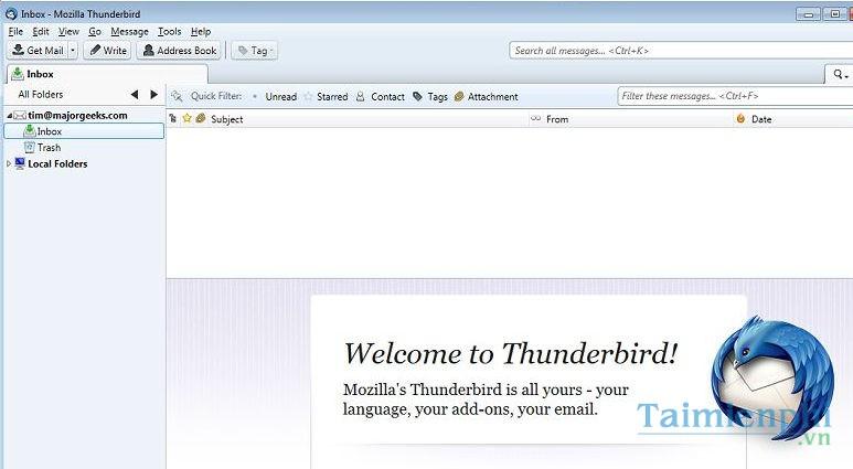 Kết quả hình ảnh cho Giao diện WebMail Notifier Thunderbird Email