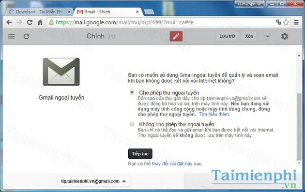 tai gmail offline