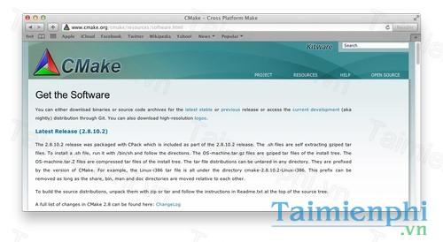 CMake cho Mac