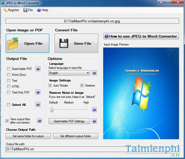 Convert Word to JPG / Universal Document Converter