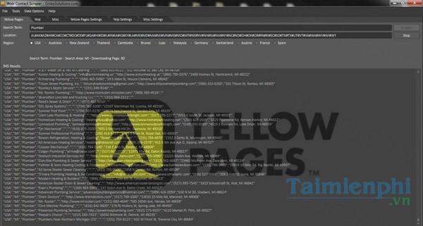 download web contact scraper