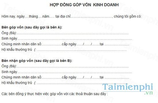 download mau hop dong gop von