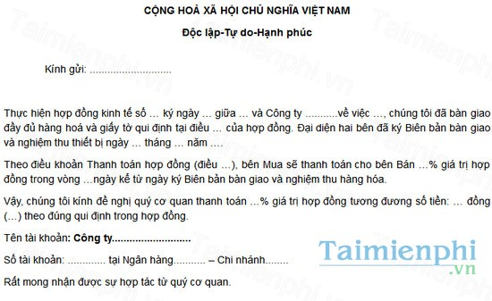 download giay de nghi thanh toan hop dong