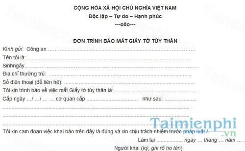 download don trinh bao mat giay to tuy than
