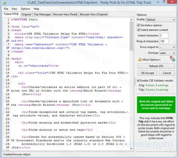 download cse html validator professional