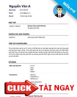 download mu cv xin vic a dng nhiu ngnh ngh - Cv Va Resume Khac Nhau