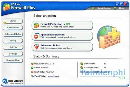 Download PC Tools Firewall Plus 7 0 0 111 - Bảo vệ tường lửa máy tính