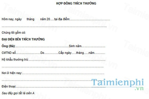 download mau hop dong trich thuong