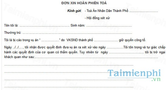 download don xin hoan phien toa