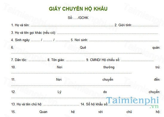 download giay chuyen ho khau