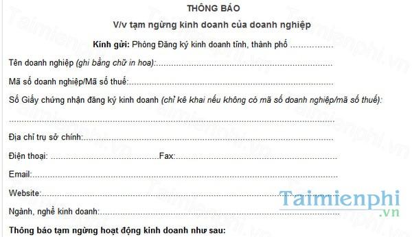 download thong bao tam ngung hoat dong cua doanh nghiep