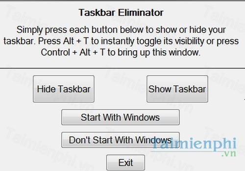 download taskbar eliminator