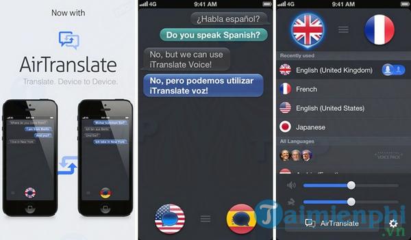 iTranslate cho iOS