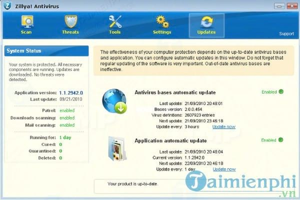 Zillya Antivirus Definition Updates