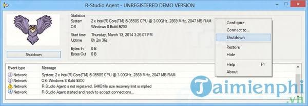Download R Studio Agent 8 3 build 1160 windows all - Hỗ trợ khôi phục