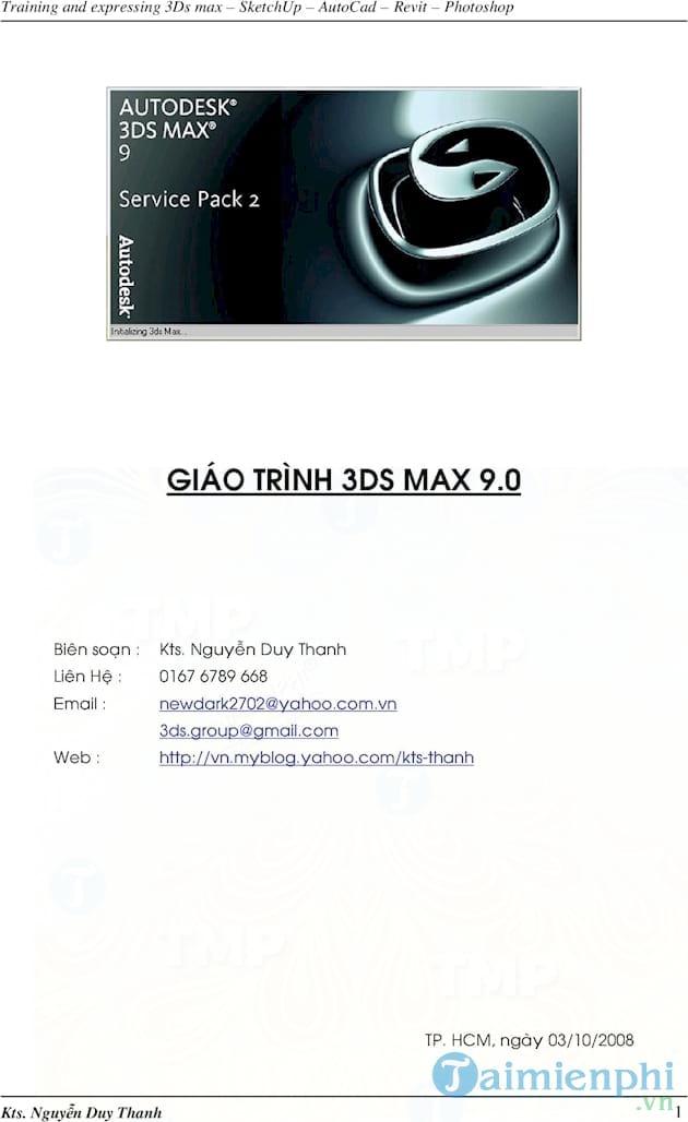 Giáo trình 3Ds Max
