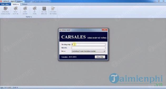 Phần mềm quản lý kinh doanh xe ô tô Carsale