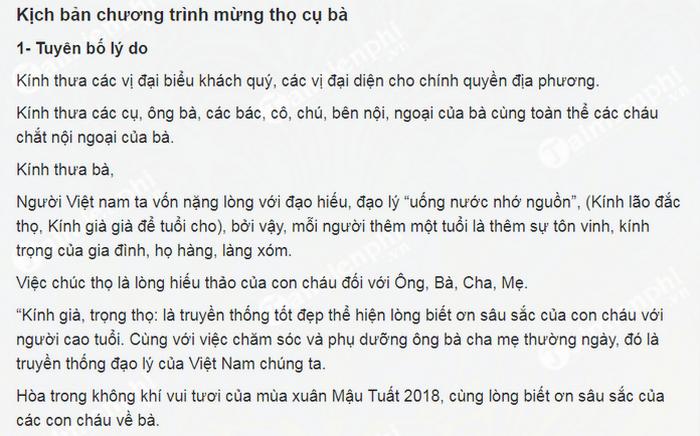 kich ban chuong trinh le mung tho