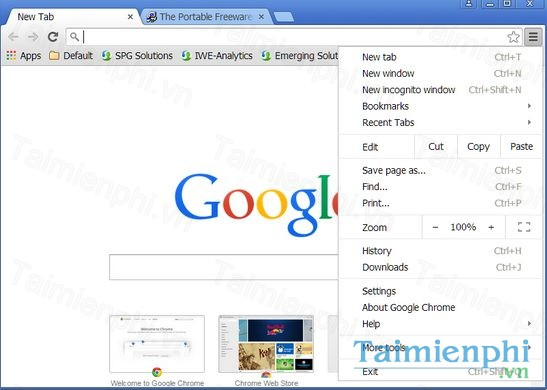 tai google chrome portable