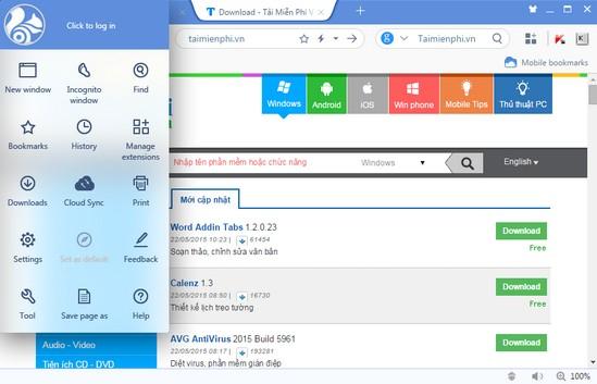 Download UC Browser phiên bản mới nhất cho windows 7a