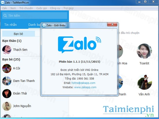 download zalo cho may tinh