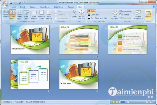 mau template powerpoint